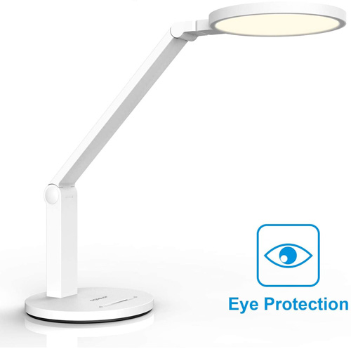 Aigostar - Lampe de bureau flexo LED de 15W et lumière naturelle 4000K, 800lm. Protection oculaire, bras flexible