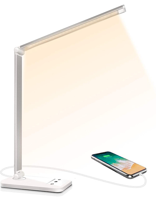 Lampe de Bureau LED, Lampes de Bureau Dimmable 5 Modes de Couleur 10 Niveaux de Luminosité