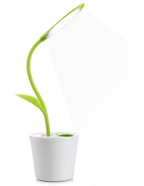 Lampe de Bureau Sans Fil, VADIV Lampe de Table Liseuse LED Tactile Luminosité Ajustable avec Pot à Crayon