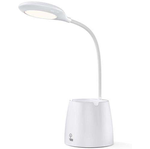 Lampe de Bureau LED, Ado VOXON LED, dimmable, en continu pour Etudier, USB Rechargeable, Porte Stylo