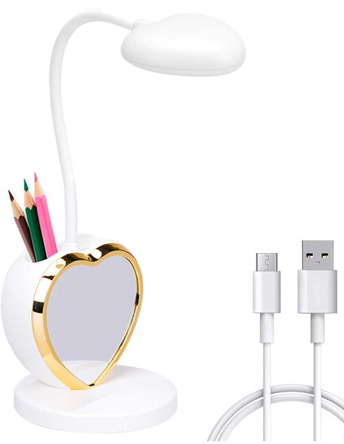 Lampe de bureau LED rechargeable avec port de charge USB
