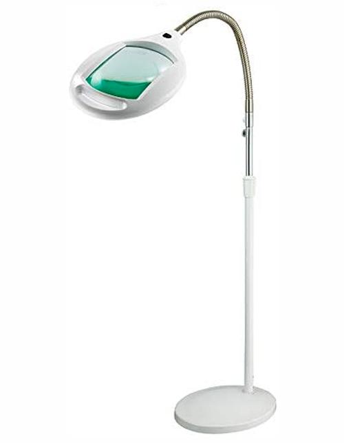 Lampe loupe sur pied à LED