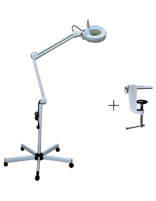 Lampe loupe broderie esthétique LED, 5 x loupe LED debout 5 roues