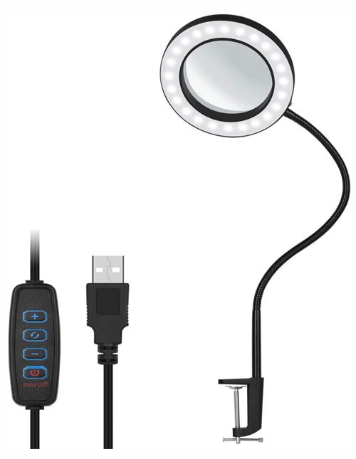 NovoLido Lampe de bureau LED Lampe loupe Grossissement 5X