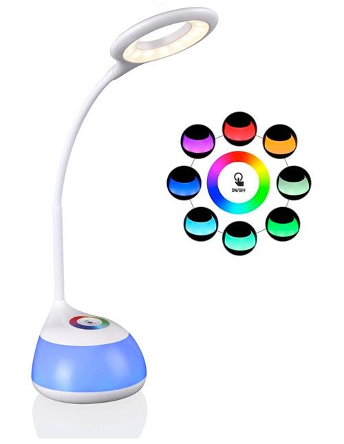 hihigou Lampe de Bureau pour ado fille avec Lumière Réglable