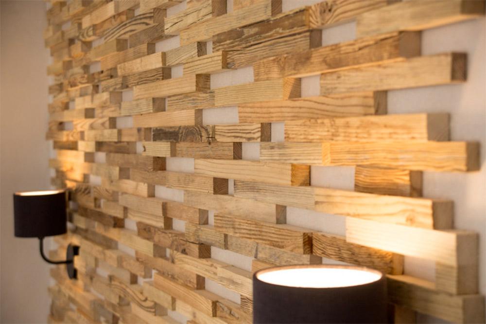 bois déco mur